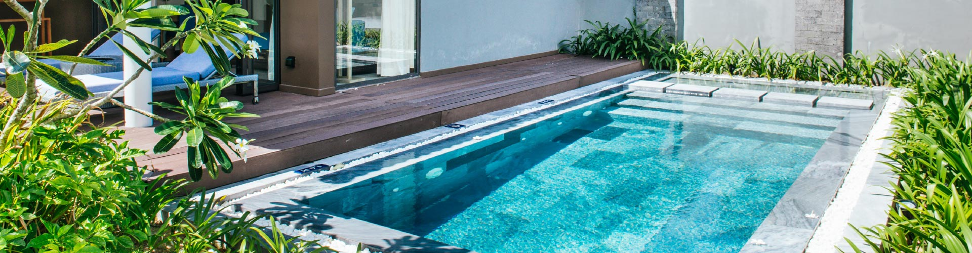 For small pools and spas